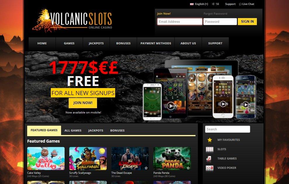 Volcanic Slots casino review