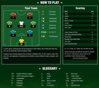 fantasy soccer league