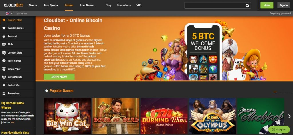 Cloudbet Casino and sportsbook review