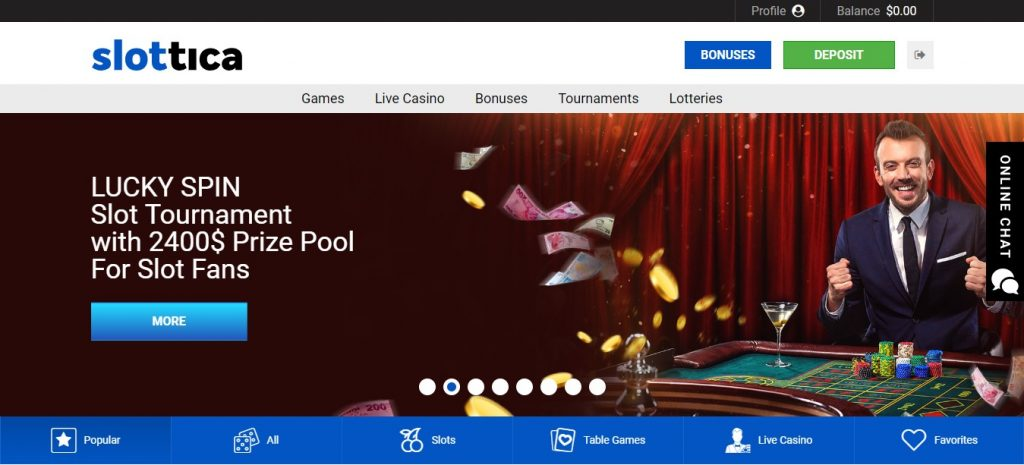 Slottica Casino review