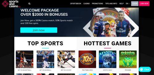 SportsandCasino.com review