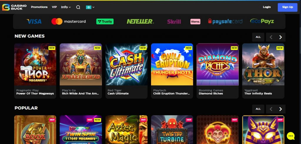 CasinoBuck South Africa review